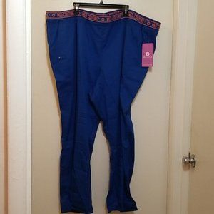 Med Couture Blue Scrub Work Pants (5XL)